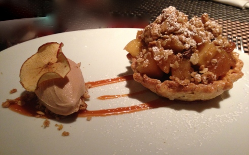 Apple pie with cinnamon ice cream - a delicious pairing.
