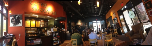 Grouchy John's Coffee interior - comfortable and conducive to business or pleasure.